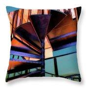 Stairway Bright Throw Pillow