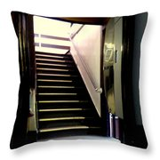 Stairway In A Mirror Throw Pillow