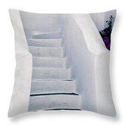 Stairway In Mykonos Throw Pillow