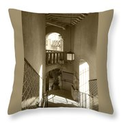 Stairway - In Sepia Throw Pillow