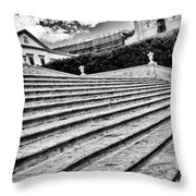 Stairway In Sicily Throw Pillow