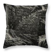 Stairway In The Glen Throw Pillow