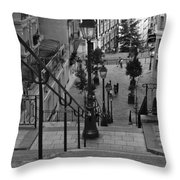 Stairway On Montmartre Throw Pillow
