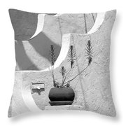 Stairway Plant Throw Pillow
