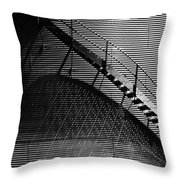 Stairway Shadow Throw Pillow