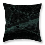 Stairway To-blue Throw Pillow