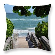 Stairway To Haven Throw Pillow