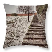 Stairway To Spring Throw Pillow