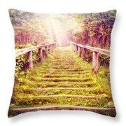 Stairway To The Garden Throw Pillow
