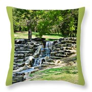Stairway To Water Throw Pillow
