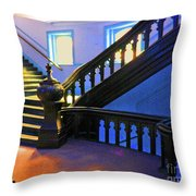 Stairwell Of Color Throw Pillow