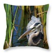 Stalking The Fish Throw Pillow