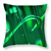 Stalks And Leaves Throw Pillow