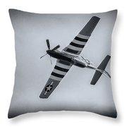 Stallion 51 - P-51d Mustang - Crazy Horse 2 Throw Pillow