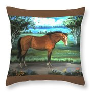 Stallion Portrait Throw Pillow
