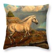 Stallion's Overlook Throw Pillow