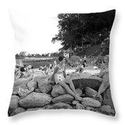 Stamford Shorewood Beach Club Throw Pillow