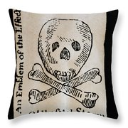Stamp Act: Cartoon, 1765 Throw Pillow by Granger