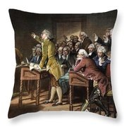 Stamp Act: Patrick Henry Throw Pillow