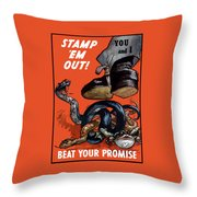 Stamp Em Out - Beat Your Promise Throw Pillow