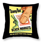 Stamp Out Black Markets Throw Pillow