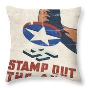 Stamp Out The Axis - Folded Throw Pillow