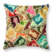 Stamping The Royal Mail Throw Pillow