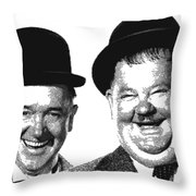 Stan And Ollie - Parallel Hatching Throw Pillow