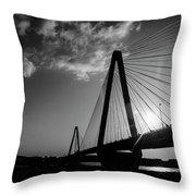 Stan Musial Bridge St Louis Mo Black And White_dsc4591_16_65 Throw Pillow