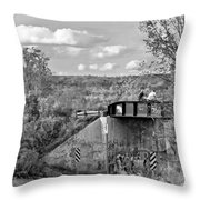 Stand By Me - Paint Bw Throw Pillow