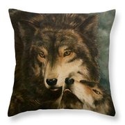Stand By Me - Wolves Throw Pillow