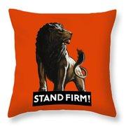 Stand Firm Lion - Ww2 Throw Pillow