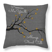 Stand Tall Throw Pillow