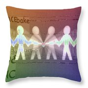 Stand Together In Peace Throw Pillow