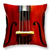 Stand Up Bass Throw Pillow