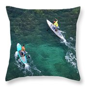 Stand Up Paddlers II Throw Pillow