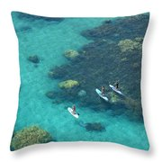 Stand Up Paddlers Throw Pillow