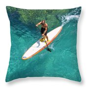 Stand Up Paddling II Throw Pillow
