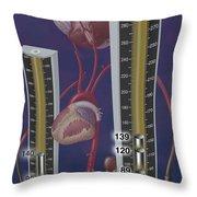 Standards For Hypertension, Illustration Throw Pillow