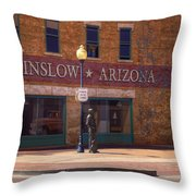 Standin On A Corner Throw Pillow
