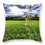 Standing Above The Crop Throw Pillow