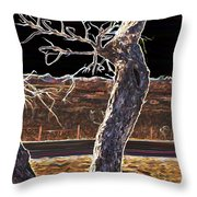 Standing Alone Throw Pillow by Savannah Fonner
