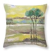 Standing In Distance Throw Pillow