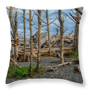 Standing Driftwood Throw Pillow