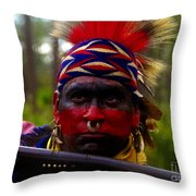 Standing Fire Throw Pillow