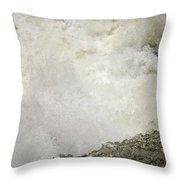 Standing On A Waterfall Throw Pillow