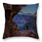 Standing On The Edge Of The Earth Throw Pillow