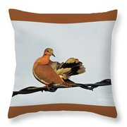Standing On The Line Throw Pillow