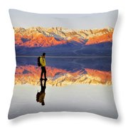 Standing On Water Throw Pillow