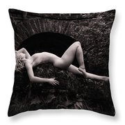 Standing Out In The Dark. Throw Pillow